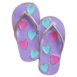 Finders Key Purse Flip Flop with Hearts Key Finder