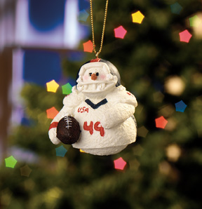 Football Player Snowberry Cuties Ornament