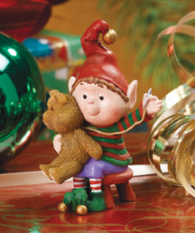 Sewing Bear Jingle Elves Figurine