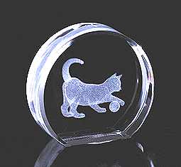 Cat with Ball Crystal Impressions