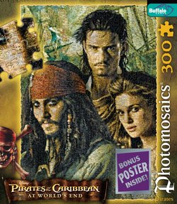Pirates Group - Pirates of the Caribbean 300 Piece Photomosaic Puzzle