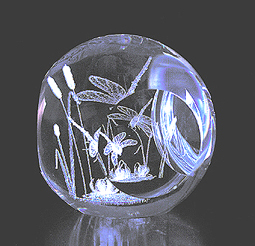 Crystal Impressions Dragonfly Sphere