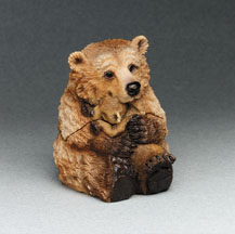 Grizzly Critter Keeper Stone Critters Figurine