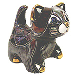 Black Kitten w/ Paw Up # 1714 Figure Rincababy Collection