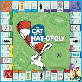 Cat in the Hat-Opoly Family Board Game
