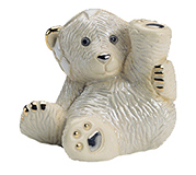 Baby Polar Bear On Back # 1719B Rincababy Collection