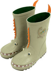 Fun Kidorable Dinosaur Rain Boots