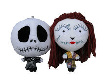The Nightmare Before Christmas Jack and Sally Plush Keychains