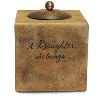 "Comfort Candles Daughter 3.5"" Square"