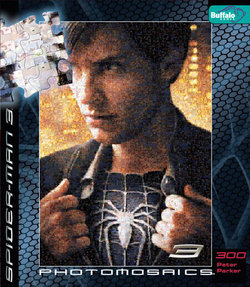 Peter Parker Spider-Man 3 Photomosaic 300 Piece Puzzle
