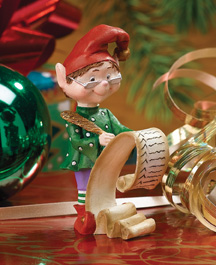 Checking List Jingle Elves Figurine