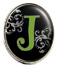 """J"" Monogrammed Key Finder - Finders Key Purse-Disc"