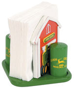 John Deere Tractor Napkin Holder with Salt & Pepper Shakers