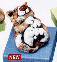 Casey Cat - Stripe on Back Beasties Pet Figurine