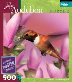 Rufous Humming Bird Audubon Birds 500 Piece Puzzle