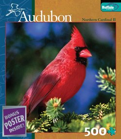 Northern Cardinal II Audubon Birds 500 Piece Puzzle