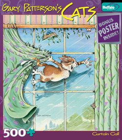 Curtain Call Gary Patterson's Cats 500 Piece Puzzle