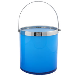 Art Glass Classic Blue Ice Bucket