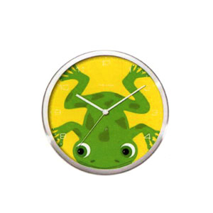 Present Time Peekaboo Frog Wall Clock