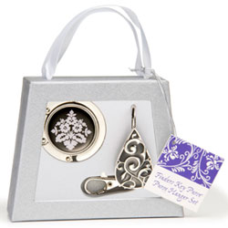 Finders Key Purse Teardrop Purse Hanger Gift Set