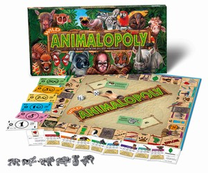 Wild Animal-Opoly Board Game