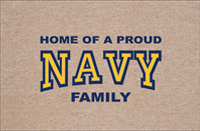 Proud NAVY Family Doormat