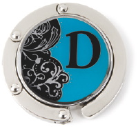 D Monogrammed Purse Hanger - Hang Em' High