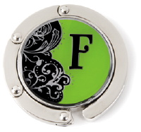 F Monogrammed Purse Hanger - Hang Em' High