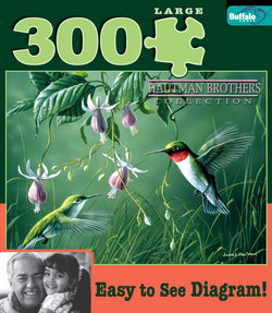 Hummingbirds and Fuschia Hautman Brothers Collection 300 Large Piece Puzzle