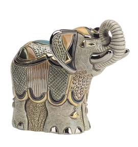 Elephant #1002 Artesania Rinconada Emerald Collection