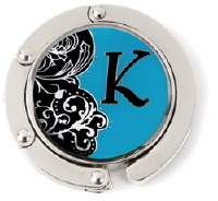 K Monogrammed Purse Hanger - Hang Em' High