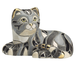Tabby Cat #1004 Artesania Rinconada Emerald Collection