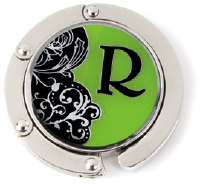R Monogrammed Purse Hanger - Hang Em' High