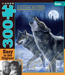 Howling in the Moonlight Hautman Brothers Collection 300 Large Piece Puzzle