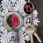 Finders Key Purse - Monogrammed Hang Em' High Purse Hanger Collection