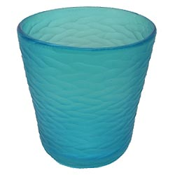 Blue etched glass ice bucket from Wild Eye Designs