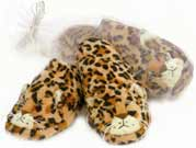 Warm Whiskers Leopard Adult Heated Slippers