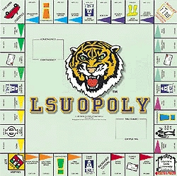 L.S.U. Opoly Board Game