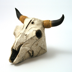 Steer Skull Money Bank