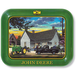 Home Sweet Home John Deere Metal Tray