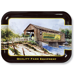 Covered Bridge John Deere Metal Tray