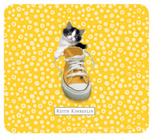 Keith Kimberlin Kitten in Yellow Sneaker Mouse Pad