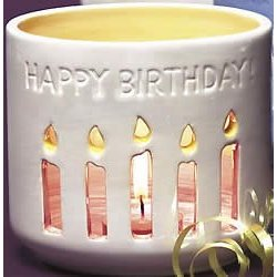 Happy Birthday Waxcessories Friendship Lights Votive Holder