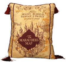 "Harry Potter Marauder's Map 17"" x 14"" Decorative Throw Pillow"