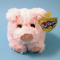 Truffles Pig Plush by Puffkins 2