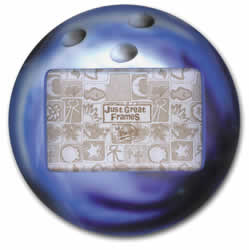 Bowling Ball 3-D photo Frame