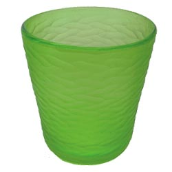 Lime green etched glass ice bucket from Wild Eye Designs