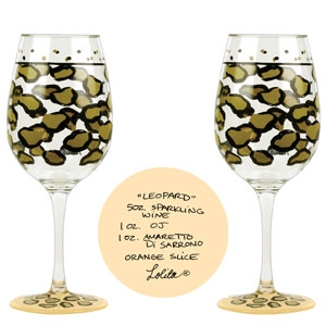 Lolita Leopard Acrylic Wine Glass Set