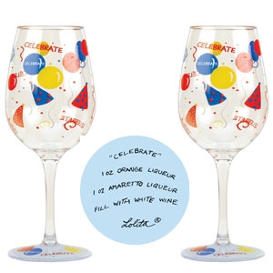 Lolita Celebrate Acrylic Wine Glass Set