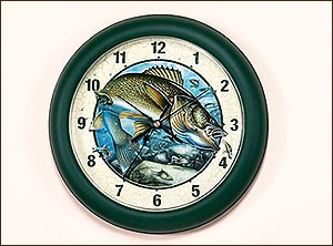 "10"" Walleye Clock-Jon Q. Wright"
